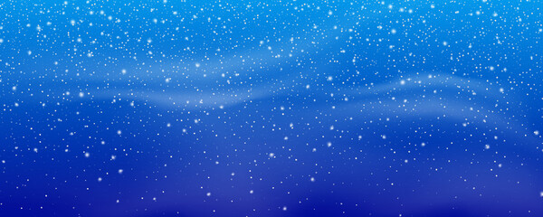 Fotomurales - Snow. Winter Christmas snowstorm blizzard background. Snowfall, snowflakes in different shapes