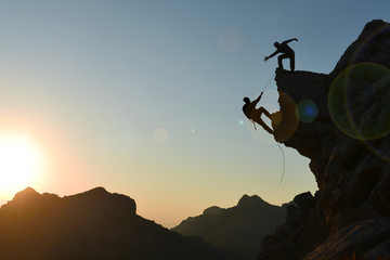 climbing sport, peak success of a harmonious and strong team