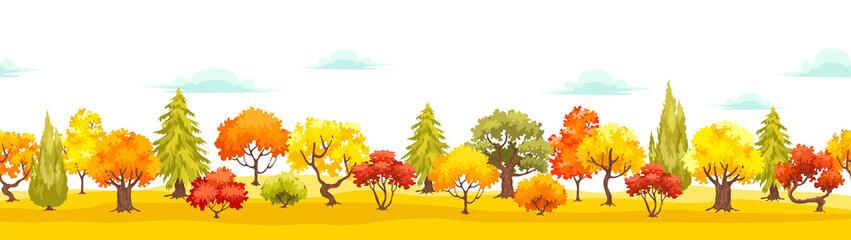 autumn park veiw