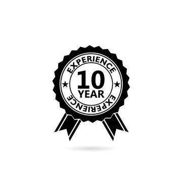 10 years experience web icon illustration isolated on white background