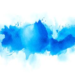 brush splash blue watercolor.creative image