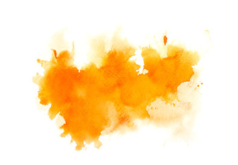 brush splash orange watercolor.creative image