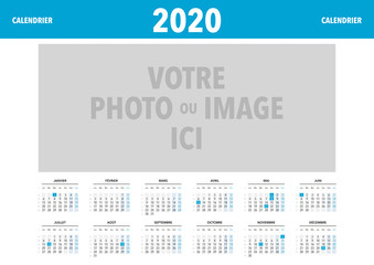 calendrier 2020 personnalisable