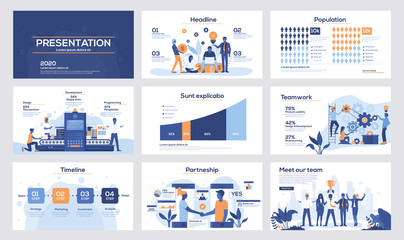 Infographics slide template design 5