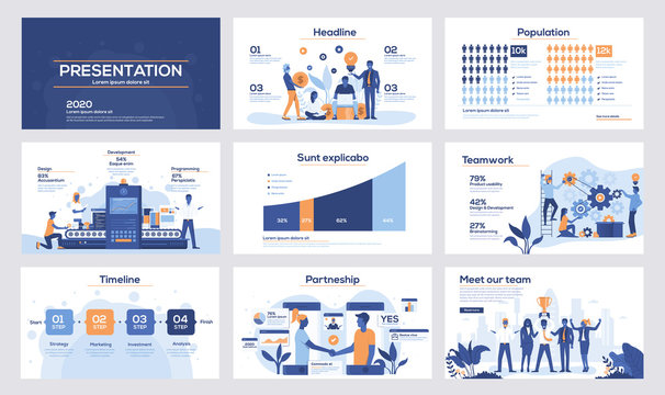 Infographics slide template design 5