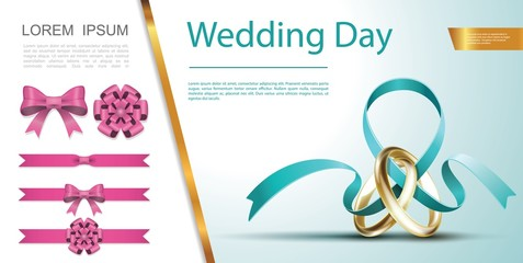 Wall Mural - Wedding Day Festive Decoration Concept