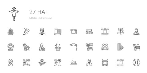 hat icons set