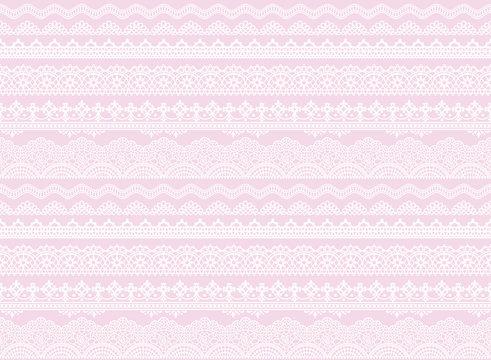刺繍レース 紫 パステル 背景