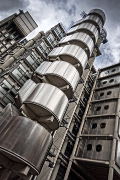 The famous Lloyd's building in London, UK