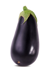 Fototapete - eggplants isolated on white background