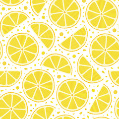 Fresh lemons background, hand drawn.