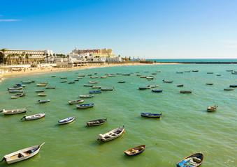 Caleta beach in Cadiz, Spain, Andalusia