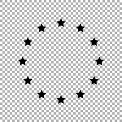 Europe union star vector icon isolated on white background
