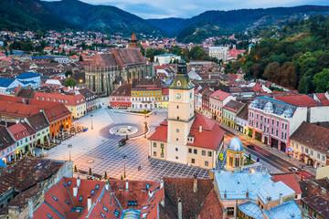 Brasov,  Romania. Old town square.
