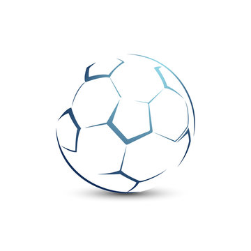 Stylized football ball on a white background sport vector illustration