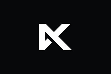 Outstanding professional elegant trendy awesome artistic black and white color DK KD MX XM initial based Alphabet icon logo.