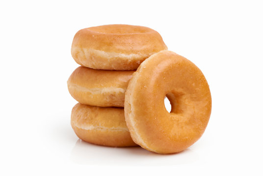 Group of sugar donuts
