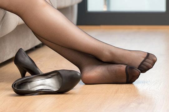 Com nylonfeet Nylon stocking