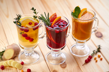 berry tea with herbs