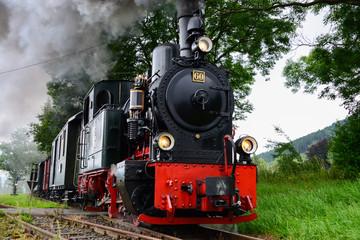 Dampflokomotive Eisenbahn Sauerländer Kleinbahn Plettenberg Lok Schmalspurbahn Qualm Museumszug Deutschland Nostalgie Romantik Zug Oldtimer Steam Train Germany Sauerland Vintage
