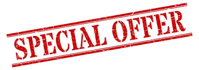 special offer stamp. special offer square grunge sign. special offer