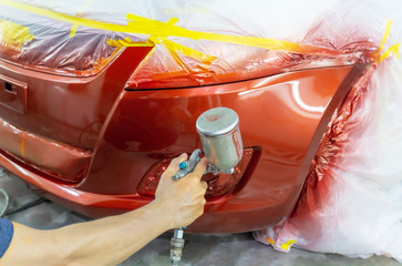 Quick car paint repair ,It takes one to two hours.