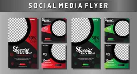 black friday social media template flyer
