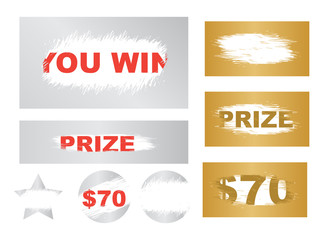 Suitable for scratch card game and win. Lottery scratch and win game card background.