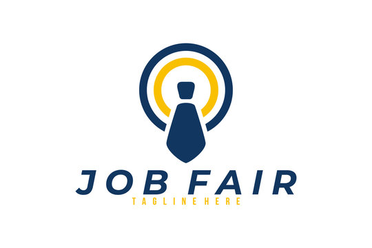 job fair logo icon vector isolated
