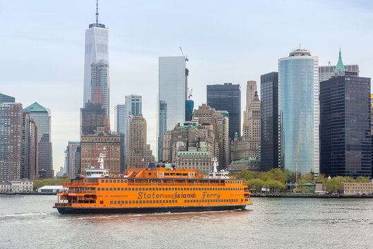 Staten Island Ferry on the New York Harbor