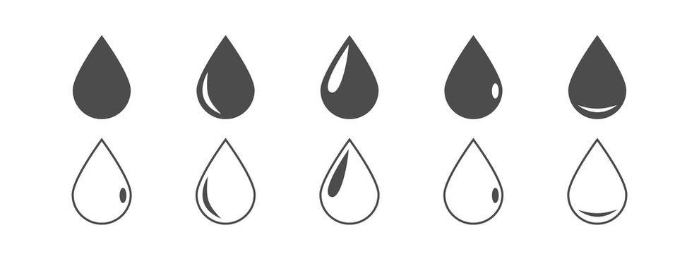 Vector drop icons