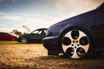 Thick rim on a slick european car