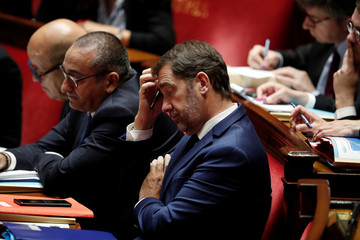 French Interior Minister Christophe Castaner attends a debate on migration at the National Assembly in Paris