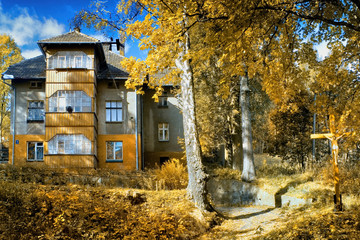 Beautiful landscape in Southern Poland near Klodzko