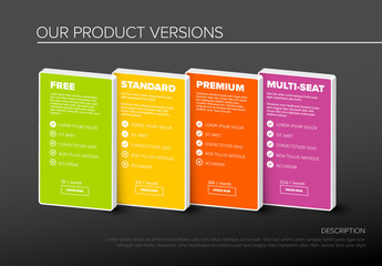 Product Options Tier Infographic