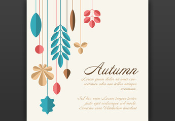 Square Autumn Card Layout