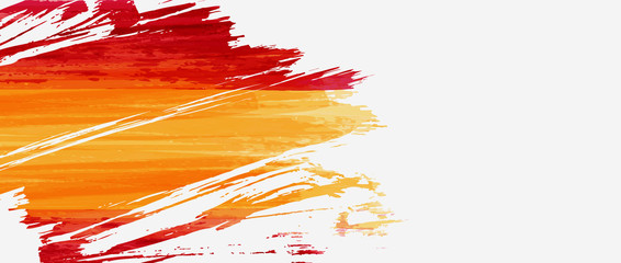 Abstract grunge brushed flag of Spain