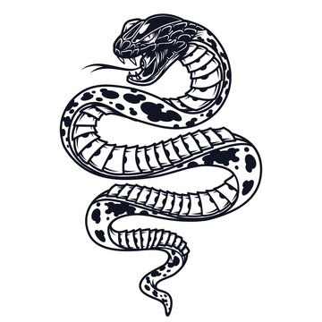 Vintage poisonous snake template