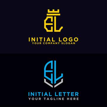 EL Logo Set is a modern graphic design, Inspirational logo design for all companies. -Vectors