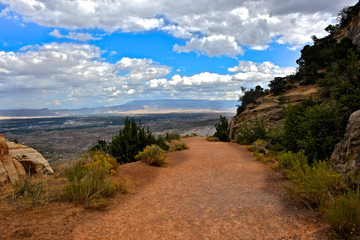 Trail of the serpents road, Colorado National Monument, Colorado