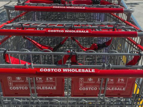 Costco Wholesale carts