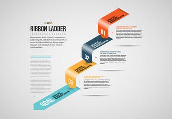 Isometric Ribbon Ladder Info Chart Layout