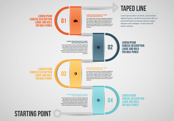 Taped Line Info Chart Layout