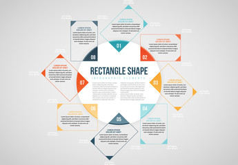 Circle with Rectangles Info Chart Layout