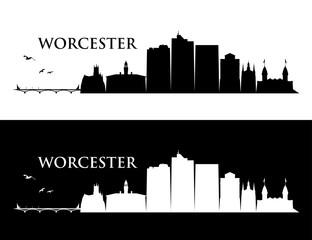 Wall Mural - Worcester skyline - Massachusetts, United States of America, USA - vector illustration