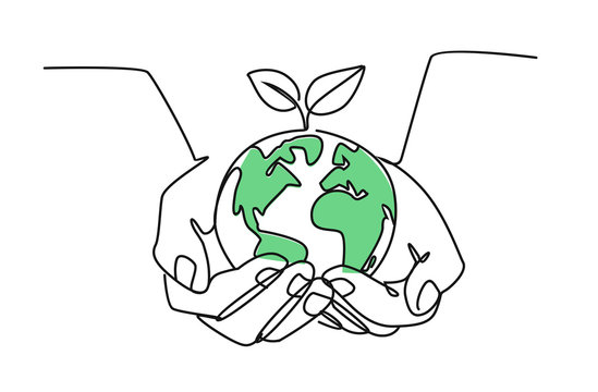 girls holding planet earth illustration