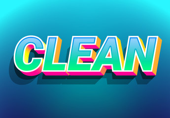 3D Bold and Colorful Text Effect