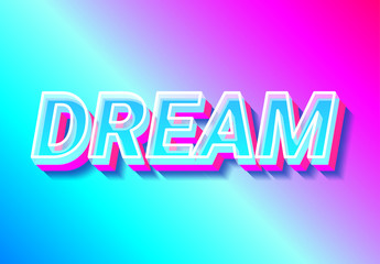 Pink and Blue Text Effect
