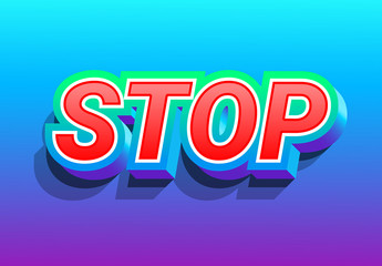 Bold Red Text Effect with Blue Background