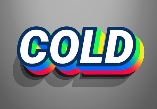 Colorful Text Effect with Grey Background